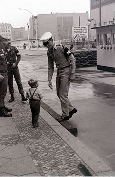 When I first saw this photo, I had to do a double take as it looked much like my father at Check Point Charlie in Berlin in the early 60's.