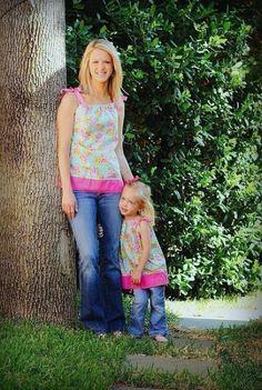 Mother/Daughter Pillowcase Top/Dress