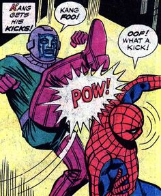 The deadly art of Kang-Fu.      Spidey Super Stories #24, July 1977     Winslow Mortimer and Ralph Macchio