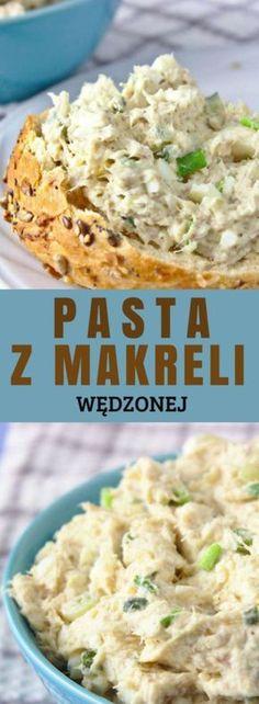 Pasta z makreli wędzonej Pasta, Salad Recipes, Cake Recipes, Smoked Mackerel, Sweet Cooking, Polish Recipes, Potato Salad, Food And Drink, Cooking Recipes