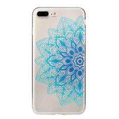iPhone 7 Soft TPU Left Half Gradient Blues