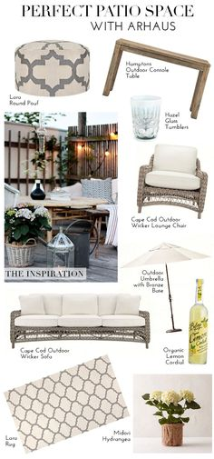 The Perfect Patio Space With Arhaus | theglitterguide.com