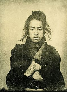 19th century portrait of an unknown man, by an unknown photographer, Japan <3