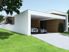 Projetos   CostaFizinus Arquitetos Box Houses, Village Houses, Small House Design, Modern House Design, Sycamore House, Modern Style Homes, Facade Architecture, Facade House, Home Design Plans