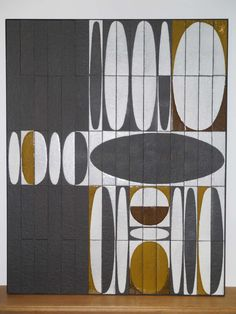 "Roger Capron Wall Ceramic Panel ""Ellipses,"" Vallauris circa 1960 2"