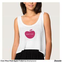 Cute Wear Pink Apple T-shirt