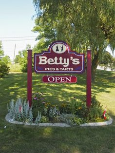 What a beautiful day to have a buttertart! Betty's Pies, What A Beautiful Day, Tarts, Ontario, Canada, Outdoor Decor, Mince Pies, Pies, Pastries