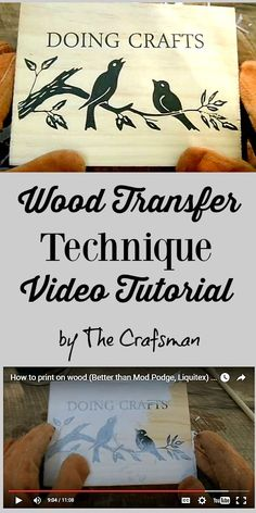 How to Transfer Photos to Wood - Reader Tutorial