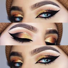Check out many variations of cat eye makeup technique. This makeup is ultimately tasteful and really sexy, and you can rock it for any occasion. #makeup #makeuplover #makeupjunkie #cateye