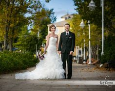The Charlottetown waterfront boasts more than just beautiful water views - scenic greenery makes the perfect background for wedding shots! #Charlottetown #PEI #EastCoast #Wedding