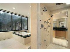 Celebrity Bathroom: Scott Turow (location unknown) #bathroominspirations more at www.boardwalknorth.com/blog