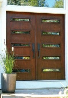 Modern Double Front Doors double front entry doors entry contemporary with concrete patio