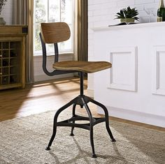 Introduce that perfect casual dining or bar spot. The mark bar stool features elegant distressed steel swag legs for an industrial charm that never ceases to impress. Outfitted with a laminated bentwood seat and back, height adjustable seat swivel, and sturdy footrest, mark enhances your dining and drinking experience through a sturdy and exceptionally rewarding design. Mark works well in industrial modern, chic, rustic, farmhouse and other eclectic decor seating environments.