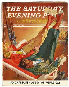 """Apres Ski,"" Saturday Evening Post Cover, February 1941 Sports Giclee Print - 46 x 61 cm Canvas Art Prints, Painting Prints, Paintings, Metal Sculpture Artists, Welding Art Projects, Saturday Evening Post, Metal Welding, Diy Welding, Vintage Ski"