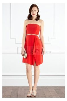 Trendy Bridesmaid Dress with Elegant Split-front