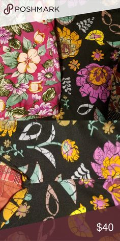 *2 pair* Lularoe floral TC leggings 2 pair of beautiful Spring floral TC Lularoe leggings! Both have been worn a couple of times and washed per LLR standards. There is slight fading in the butt/inner thigh area of the black background ones but it is not noticeable unless you are really close and inspecting them - black just fades a little faster. No holes or tears. Smoke-free home. LuLaRoe Pants Leggings
