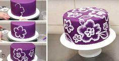 Jak nazdobit dort pomocí vykrajovátek a štětce (video) How Sweet Eats, Birthday Cake, Cupcakes, Cookies, Diy, Food, Therapy, Sweaters, Crack Crackers