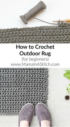 How To Crochet An Outdoor Rug (For Beginners) So easy and useful! #freepattern…