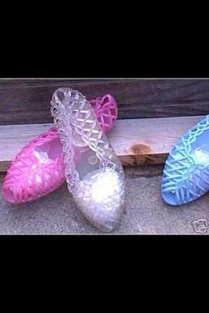 Jelly shoes - You had to wear these with tight-rolled jeans!
