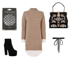 """""""Winter Dress Combo"""" by orlaparry2 on Polyvore featuring Brochu Walker, Topshop, Dolce&Gabbana and Joomi Lim"""