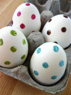 Inspirações de Decorações de Páscoa com Ovos ~ Mamãe Sortuda