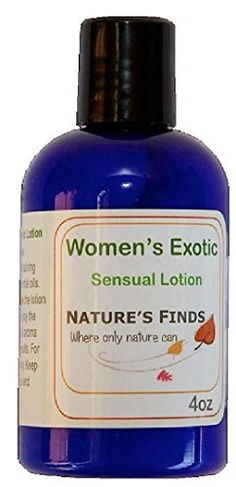 Women's Exotic Sensual Massage Lotion. Aphrodisiac Lotion to Inspire Joy, Pleasure and Romantic Passion with Our Seductive Massage Cream. FREE Aromatherapy Book to Download. 4oz. An Alluring Aroma Is Achieved with Our Special Blend of Essential Oils. Enhance Your Relationship with Intimacy, Romance, Affection, Bewitching, Enchanting and Irresistible Desire. Also Wonderful As a Skin Moisturizer and Skin Care. VIP Membership Available. Guaranteed Pure By Nature's Finds, Where Only Nature Can…