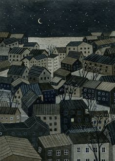 night light print by ybryksenkova