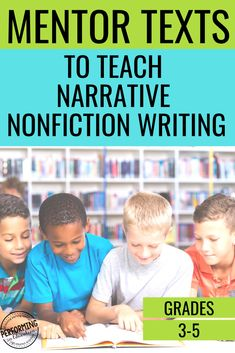 Narrative Nonfiction isn't a new genre, but it is new to many teachers. The good news is that a lot of the elements of creative writing are applicable to this writing type. The new part is teaching students how to use informational sources to create a narrative story. Teaching Narrative Writing, 5th Grade Writing, Middle School Writing, Paragraph Writing, Informational Writing, Persuasive Writing, Writing Lessons, Writing Workshop, Narrative Story