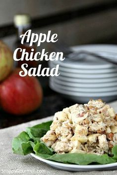 Apple Chicken Salad Recipe - an easy and healthy fall dinner or lunch. Naturally gluten-free. SnappyGourmet.com
