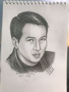 "Rodel Naval was a Filipino actor, singer, and songwriter. He is best remembered for such songs as ""Lumayo Ka Man"" and ""Muli"". Celebrity Drawings, Filipino, Pencil Drawings, Sketches, Portraits, Singer, Actors, Celebrities, Art"
