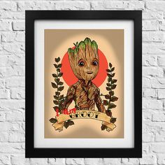 Check out this item in my Etsy shop https://www.etsy.com/uk/listing/527014251/baby-groot-unframed-tattoo-print