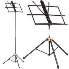 Hercules #BS100B Folding Music Stand - Black at Johnson String Instrument