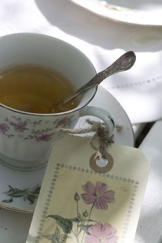Tea Time - love the cup & label