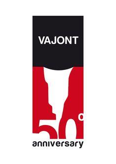 50 Years of Vajont Dam Tragedy (Italy) Anniversary Logo, Visual Identity, Atari Logo, Banner, Italy, Logos, Banner Stands, Italia, Corporate Design