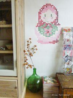 #DIY - Cross Stitch decoration - #crosstitch