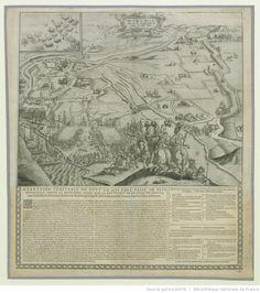 Plan de Lisle de Perié et de Rié avec la Représentation de l'armée du Roy, 1622