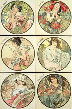 The Months: July-December 1899 by Alphonse Mucha