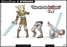 LOL! SciFi and Fantasy Art Spell Fury vs Star Wars by Fredrik KT Andersson