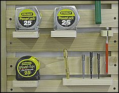 Instructions for building the Hand Tool Storage Rack These hand tool storage racks can be built to the size that best fits various woodshop layouts and available wall space. The ones pictured on th...