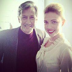 Instagram The great Charles Shaughnessy & @ChrystallJane on set of Liz & Dick