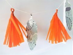 Spring Papercraft Make: Feather & Tassel Garland Tassel Garland, Tassels, Craft Tutorials, Diy Projects, Diy Tutorial, Feather, Paper Crafts, Crafty, Spring