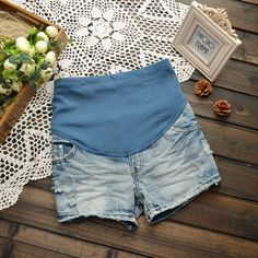 Pregnancy clothes fit pants summer seasons up to 2013 under new five short pants plus size denim hot pants