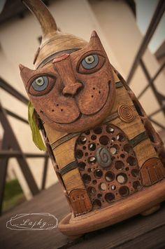 ...Malý Mikeš... Menší autorká lampa. Výška 30 cm, průměr podnosu 15 cm