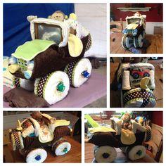 Jeep diaper cake!