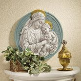 Found it at Wayfair - Madonna and Child Roundel Wall Sculpture