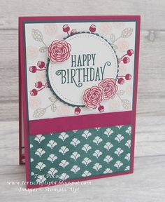 Stampin' Up! UK Demonstrator - Teri Pocock: Happy Birthday Gorgeous - Catalogue Launch Project 3