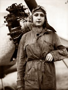 Spain - 1936. - Carmen Peche -  Pilot of the Spanish Republican Army.