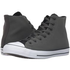 Converse Chuck Taylor All Star Kurim Hi (Black/Cast Iron/Casino) Lace... ($70) ❤ liked on Polyvore featuring shoes, sneakers, black lace up shoes, black high-top sneakers, high top shoes, converse high tops and lace up high top sneakers