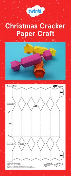 Christmas Cracker Paper Craft. Good to use for nets and 3D shapes