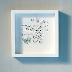 A beautiful gift for a WOnderful Friend. Made to order and colour themes can be made to suit your needs.  3D box frame, the size is 26x26cm, with various sized 3d butterflies, hearts and Swarovski crystals.
